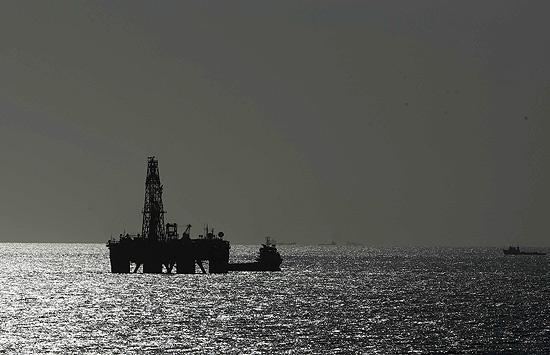 Plataforma da Petrobras em águas profundas