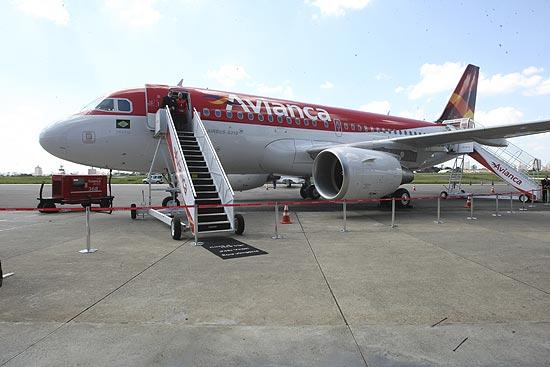 Aeronave airbus A319, parte da frota da Avianca; participação de mercado da empresa cresceu 45% em 2012