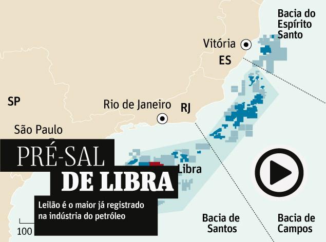 PRÉ-SAL DE LIBRA - Brasil faz hoje o maior leilão de petróleo da história mundial