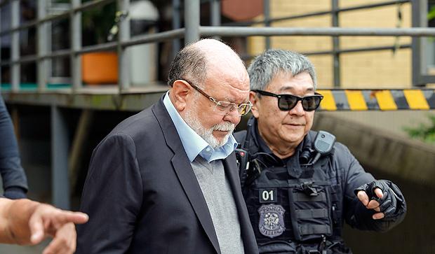 O ex-presidente da construtora OAS, Léo Pinheiro, quando foi preso