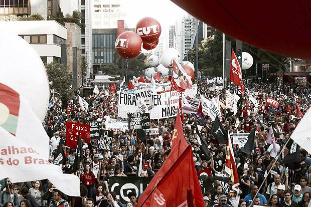 CUT, CTB e Intersindical promovem atos contra reformas da Previdência, trabalhista e terceirização promovidas pelo governo Michel Temer.