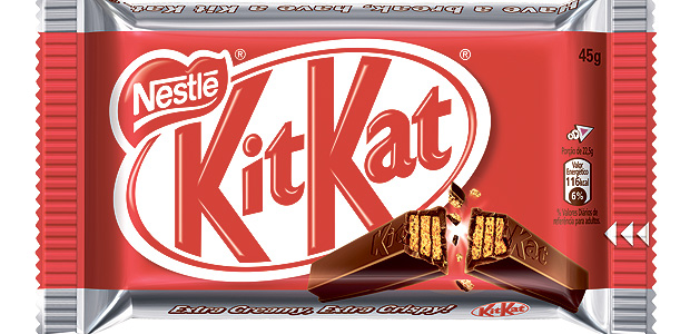 O chocolate Kitkat