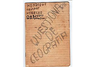 Caderno de Geografia do ministro Henrique Meirelles