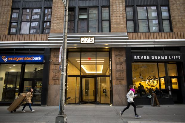 The building that the Florida-based company Devumi listed as its address, in Manhattan, Jan. 20, 2018. Drawing on an estimated stock of at least 3.5 million automated accounts, each sold many times over, the company has provided customers with more than 200 million Twitter followers, a New York Times investigation found. (Dave Sanders/The New York Times)