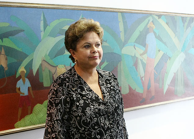 A presidente Dilma Rousseff durante reunião com o presidente mundial da Audi AG, Rupler Stadler, no Palácio do Planalto
