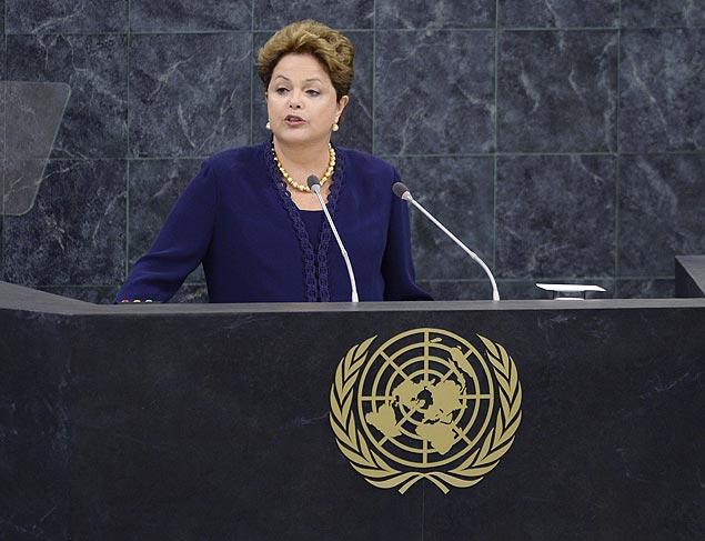 Em discurso na Assembleia-Geral da ONU, Dilma Rousseff defende criação de marco de internet para evitar intrusão