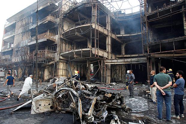 Resultado de imagem para explosão de bombas Bagdá