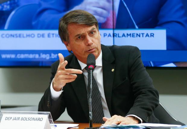 Deputado Jair Bolsonaro, em reuni�o do Conselho de �tica e Decoro na C�mara dos Deputados