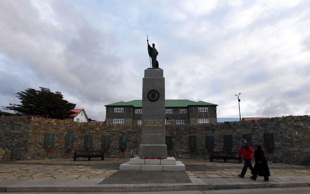 Monumento da Libertação, em Port Stanley, capital das ilhas Malvinas