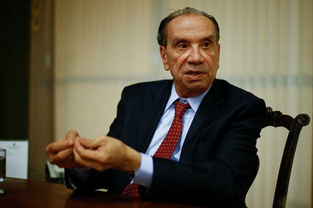 O ministro Aloysio Nunes (Relações Exteriores), que defende candidatura de Alckmin