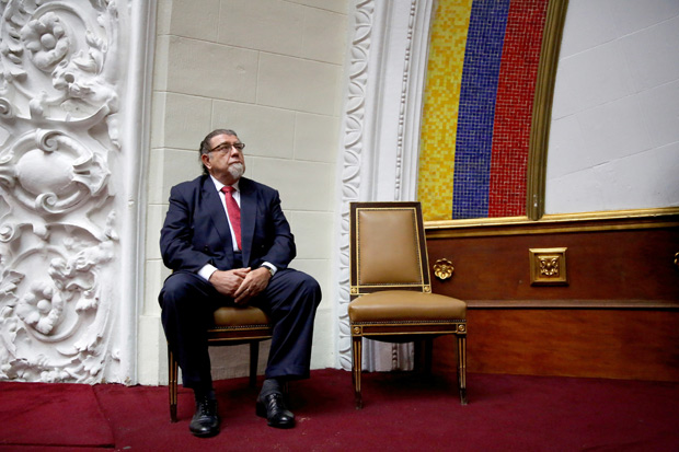 Ambassador in Venezuela attends a session at the National Assembly in Caracas Venezuela