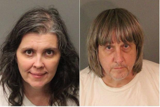 Louise Ann Turpin e David Allen Turpin foram presos acusados de manter seus 13 filhos em sua casa