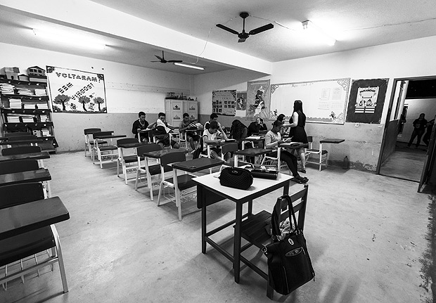 MUNIZ FREIRE - ES - BRASIL, 27-08-2015, 16h20: GESTAO ESCOLAR. Escola Estadual de Ensino Medio Maria Candido Kneipp, escola publica na zona rural do interior do Espirito Santo que teve a melhor avaliacao segundo o ENEM. (Foto: Adriano Vizoni/Folhapress, ESPECIAIS) ***EXCLUSIVO FSP***