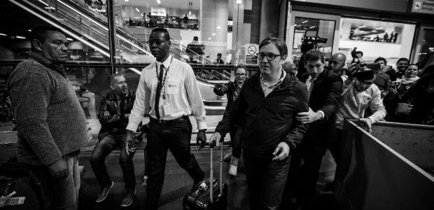 GUARULHOS, SP, 19.05.2017: TEMER-DENÚNCIAS - O deputado federal Rodrigo Rocha Loures (PMDB-PR) chega de Nova York no aeroporto de Guarulhos (SP), após ter seu nome citado na delação de executivos da JBS. (Foto: Bruno Santos/Folhapress)