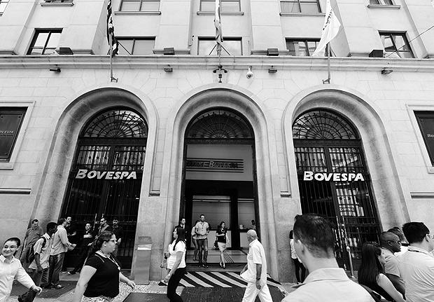 Entrada do prédio da BM&FBovespa, no centro paulistano