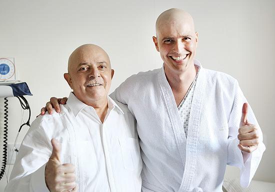 Lula e Reynaldo Gianecchini no hospital em SP