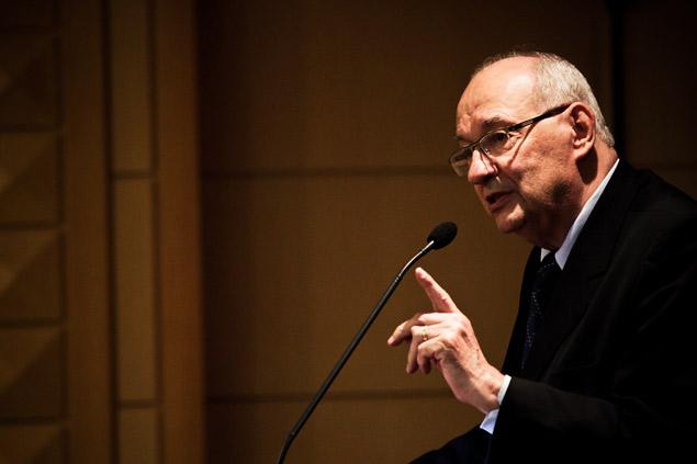 O jurista Ives Gandra Martins durante evento em São Paulo