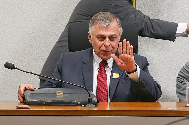 O ex-diretor administrativo da Petrobras Paulo Roberto da Costa durante depoimento na CPI da Petrobras no Senado