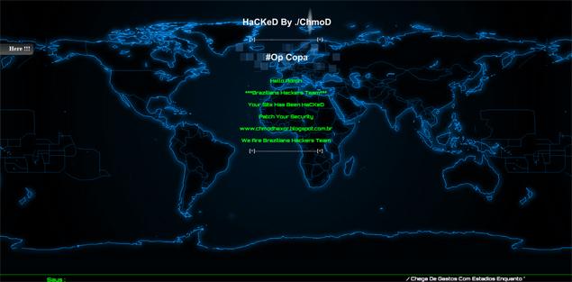 Reprodução do site da prefeitura de Itapevi após ataque de grupo hacker