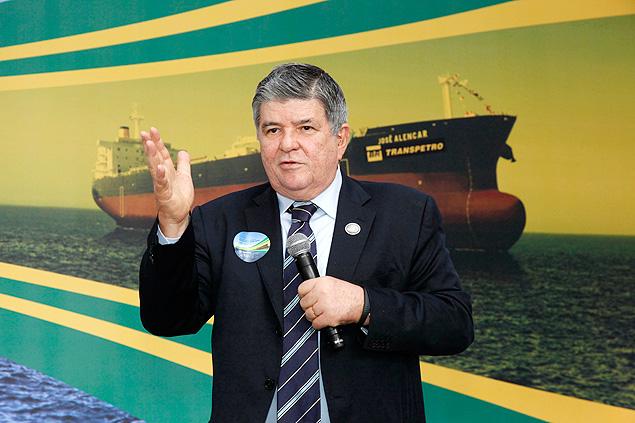 Presidente Sergio Machado em discurso durante cerimônia da viagem inaugural do Navio José Alencar. Foto: Renata Mello / Transpetro ***DIREITOS RESERVADOS. NÃO PUBLICAR SEM AUTORIZAÇÃO DO DETENTOR DOS DIREITOS AUTORAIS E DE IMAGEM***