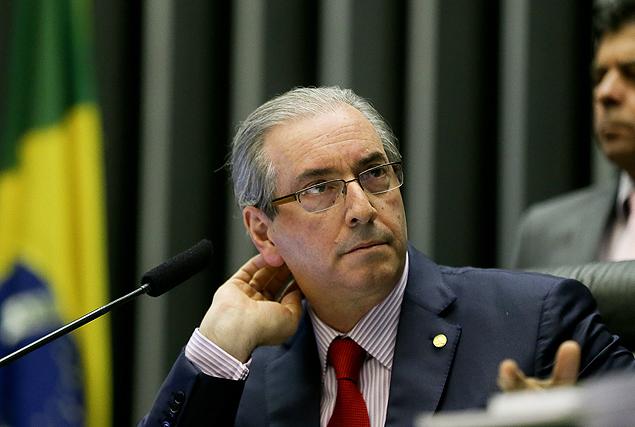 BRASÍLIA, DF, BRASIL, 30.08.20125. O presidente da Câmara dos Deputados, Eduardo Cunha, comanda sessão de votação da Casa. (FOTO Alan Marques/ Folhapress) PODER