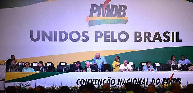 Convenção Nacional do PMDB começa em Brasília (DF)