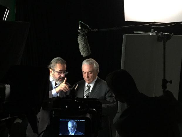 O marqueteiro Elsinho Mouco e Michel Temer