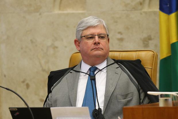O procurador-geral da República, Rodrigo Janot, em sessão no STF