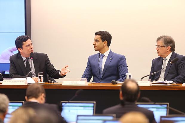 Brasilia, DF, Brsasil, 04/08/2016: O juiz da Lava Jato, Sergio Moro, fala na comissao especial da Camara que a analisa o projeto do lei de combate a corrupcao. Foto: Alan Marques/Folhapress