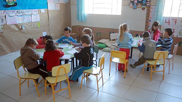 Escola em Jari, no RS, único Estado das regiões Sul e Sudeste onde predominam cidades ineficientes