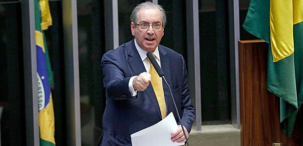 BRASILIA, DF, BRASIL, 12-09-2016, 21h00: O deputado Eduardo Cunha, se defende em sessao na Camara dos Deputados, que vai decidir se o seu mandato sera cassado. (Foto: Pedro Ladeira/Folhapress, PODER)