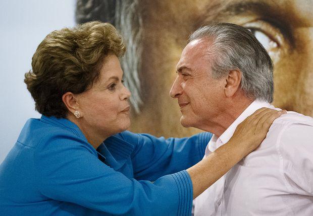 A ex-presidente Dilma Roussef e o atual presidente, Michel Temer, durante a campanha presidencial de 2014