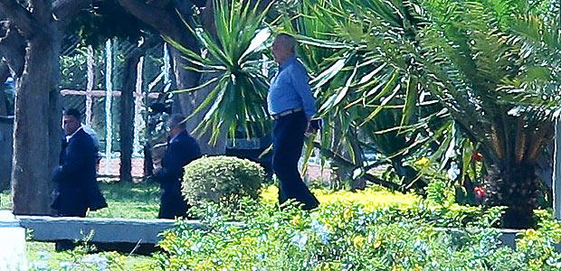 O presidente Michel Temer no Palácio do Jaburu, residência oficial do vice, onde ele voltou a morar