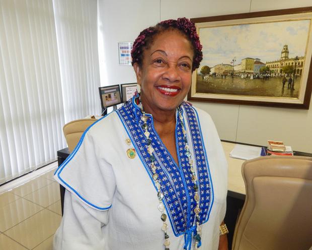 A ministra dos Direitos Humanos, Luislinda Valois, em foto tirada na Bahia em 2016