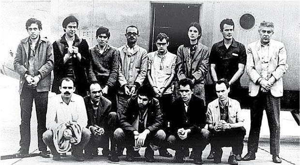 Dirceu (o segundo em pé, da esq. à dir.) e outros guerrilheiros em 1969