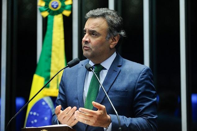 O senador Aécio Neves (PSDB-MG), no Senado, em 2016