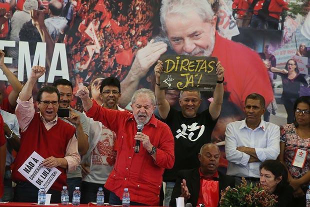 Diadema SP Brasil 15 07 2017 No sindicato dos metalurgicos o ex-presidente Luiz Inacio Lula da Silva fala no encontro com trabalhadores .PODER . Jorge Araujo Folhapress 703 ORG XMIT: XXX