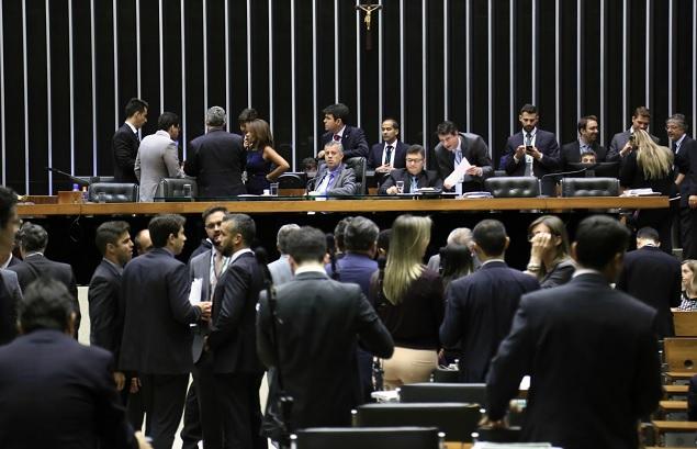Plenário da Câmara dos Deputados durante votação