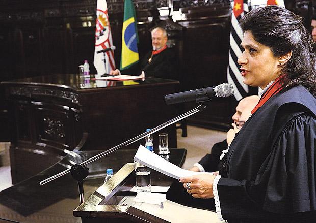 A desembargadora Maria Lucia Pizzotti