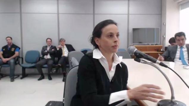 A ex-primeira-dama Adriana Ancelmo, em depoimento a Sergio Moro, em abril