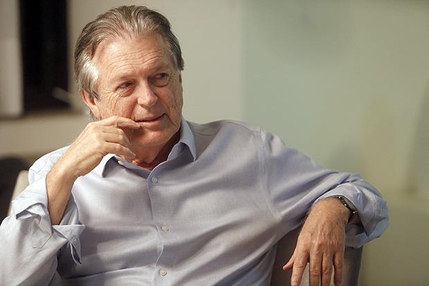 O deputado federal Luciano Bivar, presidente do PSL, durante coletiva que anunciou união com Bolsonaro para a eleição