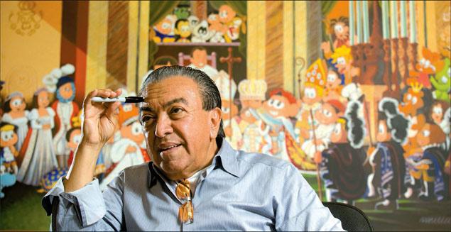 Mauricio de Sousa, no estúdio da Turma da Mônica, em SP