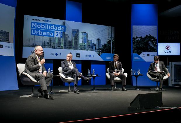 Laurence Casagrande Lourenço, César Borges, Giovanni Pengue Filho e o mediador Rogério Gentile