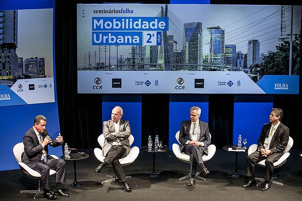 Rui Costa, Paulo Menezes, Leonardo Vianna e Flamínio Fichmann no 2º Seminário Mobilidade Urbana