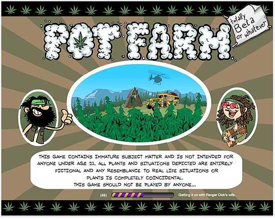 Pot Farm, jogo de plantio de maconha para do Facebook