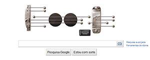 Doodle interativo do Google, em homenagem a Les Paul