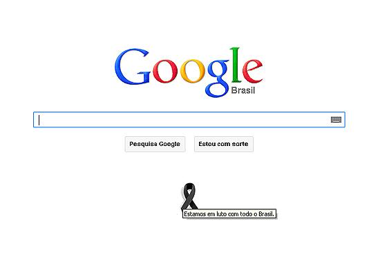 Google exibe mensagem de luto pelo incêndio em Santa Maria (RS)