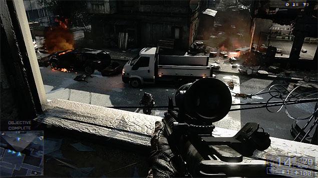 """Battlefield 4"", jogo de tiro da Electronic Arts"