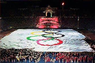d4d355d329 Jogos Olímpicos de 1992  cerimônia de abertura dos Jogos Olímpicos de  Barcelona em 1992