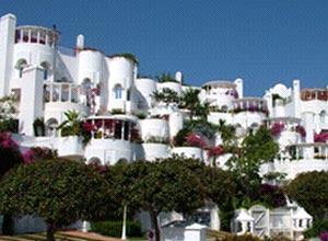 Divulgação do hotel La villa marbella, em Marbella, província de Málaga, Espanha; é o quinto colocado em votação